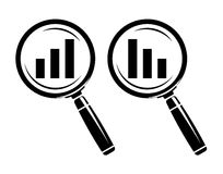 Increase-decrease magnifiers icons Stock Photo