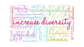 Increase Diversity Animated Word Cloud