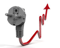The increase in electricity tariffs. Concept Stock Photos