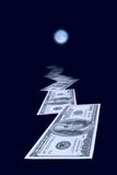 Increase in fees. The moon influences financial operations Royalty Free Stock Image