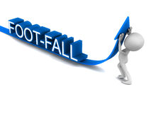 Increase footfall royalty free illustration