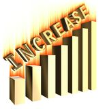 Increase graph bar Royalty Free Stock Photography