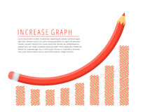 Increase graph concept. Stock Images