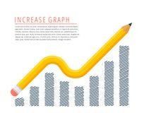 Increase graph concept. Stock Photos