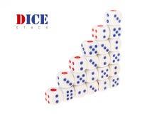 Increase graph dice Stock Photo