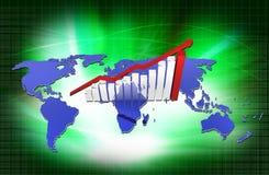 Increase graph Stock Photos