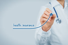 Increase health insurance care Stock Photography