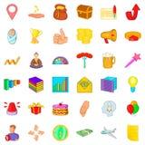 Increase icons set, cartoon style Royalty Free Stock Photos