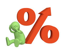 Increase of the interest rate under credits Stock Photography