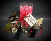 Free Increase Passion Red Spell Candle Stock Photos - 114694483