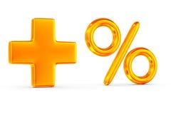 Increase percent on white background. Isolated 3D image Stock Photo