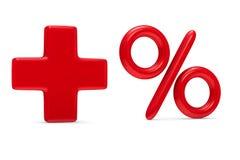 Increase percent on white background Stock Photo