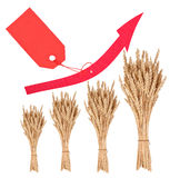 Increase in the price of wheat Stock Photo
