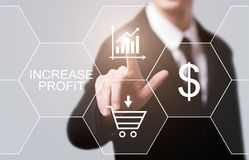 Increase Profit Grow Success Business Technology Concept Stock Photo
