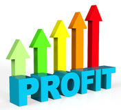 Increase Profit Represents Rising Upward And Raise Royalty Free Stock Photo