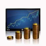 Increase in profits. Stock Photos
