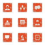 Increase of the remittance icons set, grunge style. Increase of the remittance icons set. Grunge set of 9 increase of the remittance vector icons for web Royalty Free Stock Image