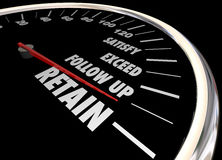 Increase Retention Meet Needs Exceed Expectations Speedometer Royalty Free Stock Photo