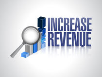 Increase revenue business sign illustration Stock Image
