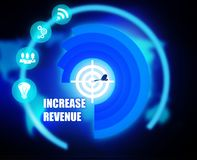 Increase Revenue concept plan graphic. Background Royalty Free Stock Photo