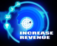 Increase Revenue concept plan graphic. Background Stock Photo