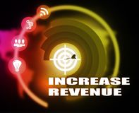 Increase Revenue concept plan graphic. Background Stock Photos