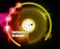 Increase Revenue concept plan graphic. Background Royalty Free Stock Photography