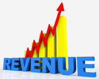 Increase Revenue Represents Business Graph And Advancing Royalty Free Stock Photo