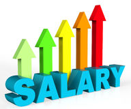 Increase Salary Indicates Position Growing And Interview Royalty Free Stock Photos
