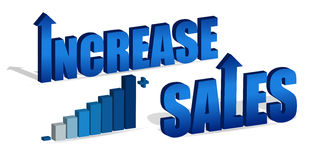 Increase Sales. Chart and text. Vector file also available Stock Photography