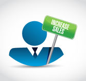 Increase sales avatar sign concept Stock Photos