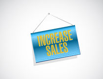 Increase sales banner sign concept Royalty Free Stock Photo