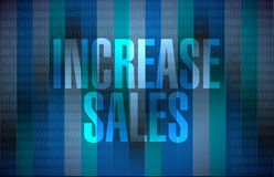 Increase sales binary sign concept Stock Image