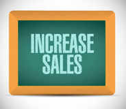 Increase sales board sign concept Stock Image