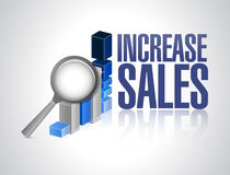 Increase sales business graph review sign concept Stock Images