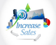 Increase sales business sign concept Stock Image