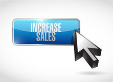 Increase sales button sign concept Stock Photo