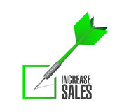 Increase sales check dart sign concept Stock Image