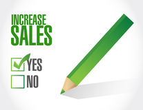 Increase sales check list sign concept Stock Photo