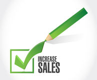Increase sales check mark sign concept Royalty Free Stock Photography
