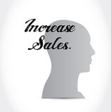 Increase sales icon mind sign concept Stock Image