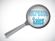 Increase sales magnify review sign concept Royalty Free Stock Photos