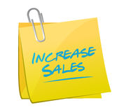 Increase sales memo post sign concept Royalty Free Stock Photography