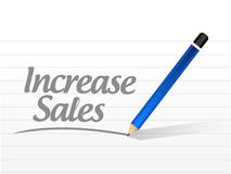 Increase sales message sign concept Stock Photos