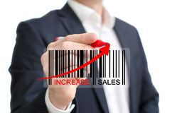 Increase sales Stock Photo