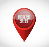 Increase sales pointer sign concept Stock Images