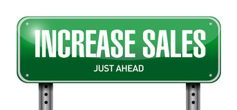 increase sales post sign concept Stock Photography