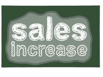 Increase sales poster Royalty Free Stock Photos