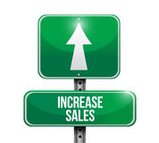 Increase sales road sign concept Royalty Free Stock Photos