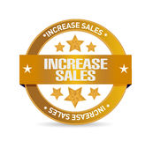 Increase sales seal sign concept Stock Image